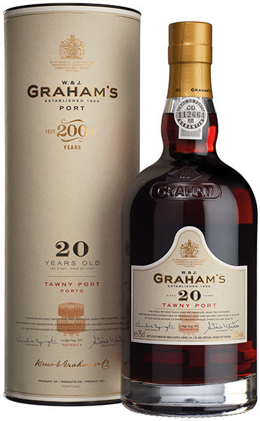 Product Image for GRAHAM'S 20 YEAR OLD TAWNY PORT W/TUBE